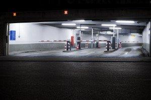 Parking garage, night shot