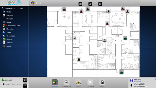 Next level security systems integrated ip video and ip for Interactive floor plans
